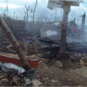 Tras el paso del tifón Yolanda en Filipinas